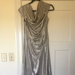 Metallic long gown - party/mother of bride